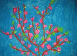 Il giornale della rete primavera - Immagine dell albero a colori ...